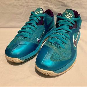 Men's NIKE LEBRON IX SUMMIT HORNETS Shoes sz 10.5